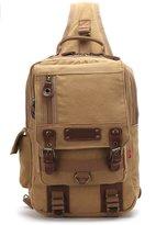 Tibes Canvas Chest Pack Crossbody Bag Canvas Shoulder Bag Chest Bag for Men/Women
