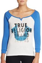 True Religion Graphic Raglan Tee