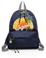 See by Chloe Andy Embroidered Satin Backpack
