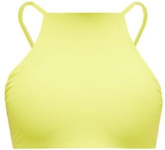 JADE SWIM Nova Halterneck Bikini Top - Light Green