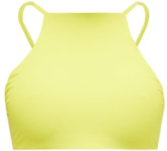 JADE SWIM Nova Halterneck Bikini Top - Womens - Light Green