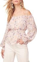 ASTR the Label Harlee Floral Cold Shoulder Top