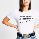River Island White 'You are limited edition' T-shirt