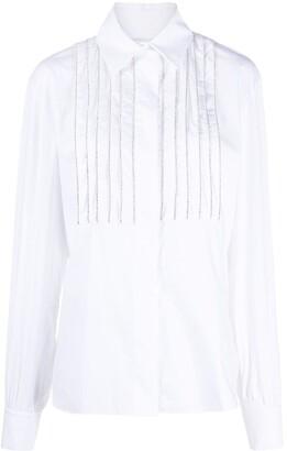 Alexandre Vauthier Rhinestone-Embellished Shirt