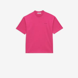 Balenciaga Copyright Regular T-shirt in pink vintage jersey