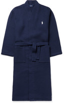 Polo Ralph Lauren Waffle-knit Cotton Robe - Navy