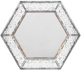 Hexagon Mercury Glass Wall Mirror