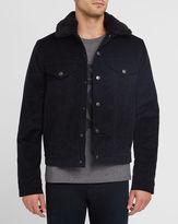 Acne Studios Black Beat Corduroy Fur-Collar Jacket