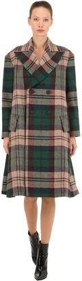 Virgin Wool Plaid Coat