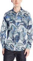 Robert Graham Men's Cabin Steward Long Sleeve Woven Shirt