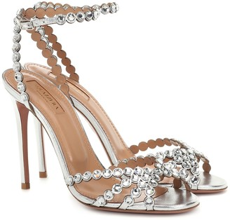 Aquazzura Tequila 105 leather sandals