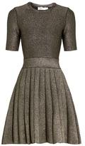 A.L.C. Susana A-line lamé mini dress