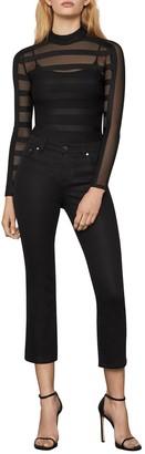 BCBGMAXAZRIA Sheer Stripe Bodysuit
