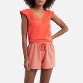 La Redoute Collections Cotton Short Pyjamas with Short Sleeves and Printed Shorts