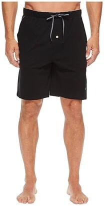 Nautica Knit Sleep Shorts (True Black) Men's Pajama