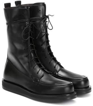 The Row Patty leather ankle boots