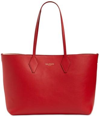 Balmain Leather Tote Bag