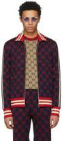 Gucci Navy Jacquard GG Track Jacket