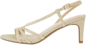 Under Armour Gizela Glitter Heeled Sandals Gold