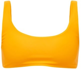 JADE SWIM Rounded Edges Scoop-neck Bikini Top - Womens - Orange