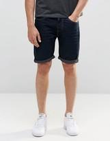 D-struct Dark Indigo Wash Denim Shorts