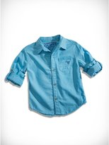 GUESS Little Boy Long-Sleeve William Shirt with Pocket