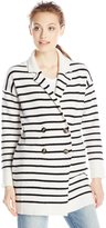 RD Style Women's Striped Button Sweater Blazer