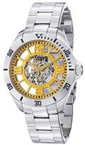 Stuhrling Original Men's 8111.331118 Classic Neo Winchester Automatic Skeleton Yellow Dial Watch