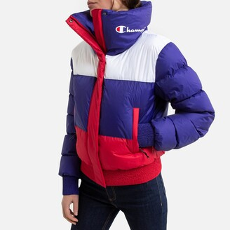 Champion Short Zipped Padded Jacket with Logo and High-Neck