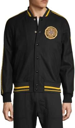 Diesel Raglan-Sleeve Wool-Blend Baseball Jacket