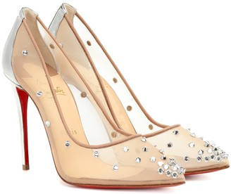 Christian Louboutin Degra 100 embellished mesh pumps