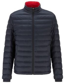 HUGO BOSS Packable Down Jacket In Lightweight Water Repellent Fabric - Dark Blue