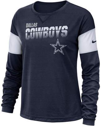 Nike Women Dallas Cowboys Breathe Long Sleeve Top