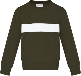 Moncler Boy's Contrast Taped Crewneck Sweater, Size 8-14