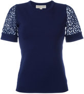 MICHAEL Michael Kors short sleeve top - women - Nylon/Spandex/Elastane/Viscose - XS