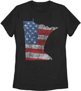 Fifth Sun Juniors' Minnesota American Flag Graphic Tee