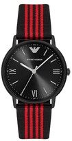 Emporio Armani Nato Stripe Strap Watch, 43Mm