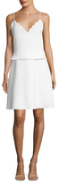 Carven Relief Scallop A-Line Skirt