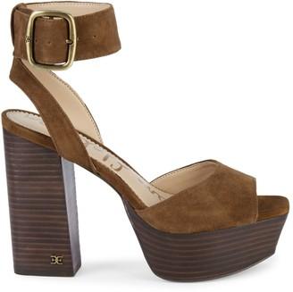 Sam Edelman Rain Suede Ankle-Strap Sandals