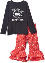 Beary Basics Black & Red 'Dream Big' Tee & Ruffle Pants - Toddler & Girls