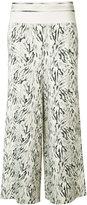 Victor Alfaro - zebra printed knit gaucho pants - women - Rayon/Spandex/Elastane - 2