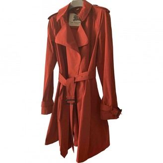 Burberry Red Trench Coat for Women