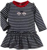 Fendi Striped Dress (Baby) - Navy-3 Months