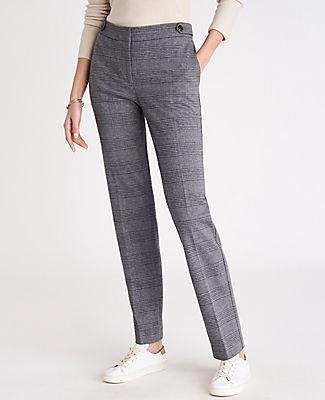Ann Taylor The Plaid Straight Pant - Curvy Fit
