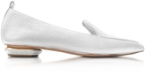Nicholas Kirkwood Beya White Tumbled Leather Loafer