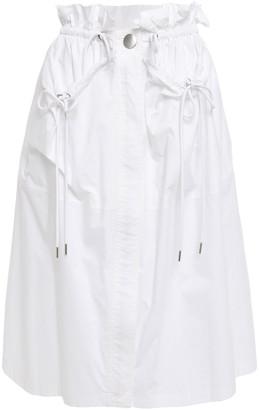 Proenza Schouler Ruffle-trimmed Cotton-poplin Skirt