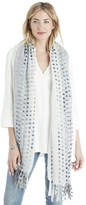 Sole Society Knit Dot Scarf with Tassels