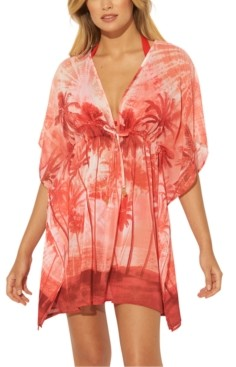BLEU by Rod Beattie Printed Caftan Cover-Up Women's Swimsuit