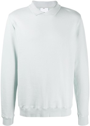 Soulland Louis polo-collar sweatshirt