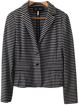 Armani Jeans Navy Cotton Jacket for Women